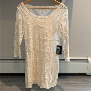 Express lace overlay dress